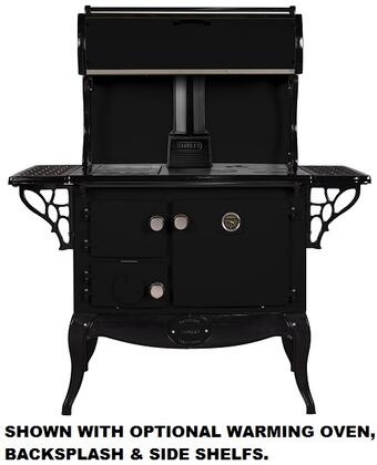 "Stanley WSERWBNB Waterford Stanley 36"" Wood Stove with 35,000 Btu, 1.8 Cu. Ft, Griddle, Hot plate, Two Simmering Plates, Cast iron Construction, Built-in oven thermometer:"