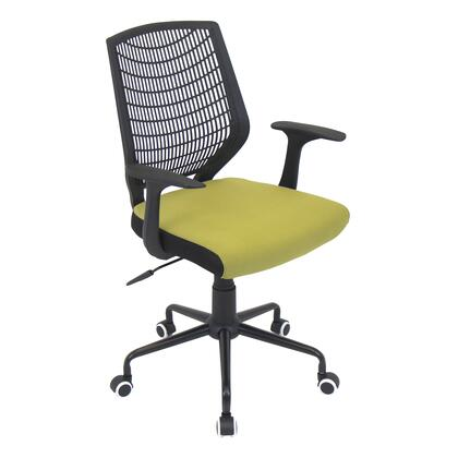 """LumiSource Network OFC-NET 35"""" - 38"""" Office Chair with 360-Degre Swivel, Mesh Backrest and Casters in"""