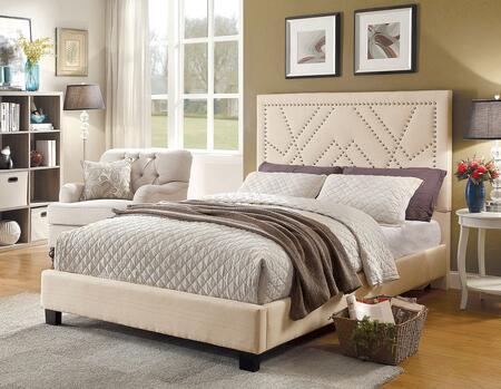 Furniture of America CM7433BGCKBED Mirianne Series  California King Size Platform Bed