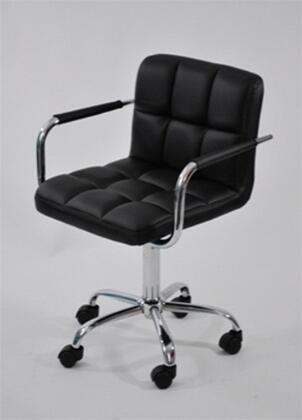 Fine Mod Imports FMI9255 Timeless Desk Chair Adjustable Height Upholstered In Leather: