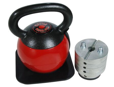 Picture of 05-3036 Adjustable Kettle Versa-Bell with Six Weights  36 lbs Total Resistance  Locking Pin  Cast Iron Handle  and Square Base Pad in