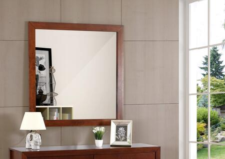 "Glory Furniture 41"" x 41"" Mirror with Square Shape and Wood Construction in"