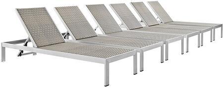 "Modway EEI2479SLVGRYSET 76"" Lounge Chair"