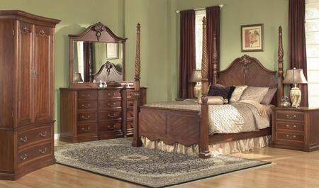 Accent HA848501BED6SET Wyndham King Bedroom Sets