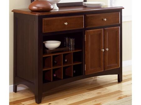 AAmerica BTL9010 Bristol Point Server with Felt Lined Top Drawers, Shelving for Your Wine Bottles and Wood on Wood Glides in