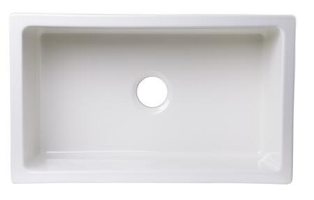 Alfi AB3018UM Kitchen Sink with Fireclay and Under Mount Installation in