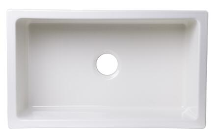 Alfi AB3018UM Kitchen Sink with Fireclay and Under Mount Installation in