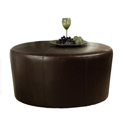 Abbyson Living HSOT062BRN Brooklyn Series Traditional Bycast Leather Ottoman |Appliances Connection