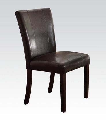 Acme Furniture 70619 Bethany Series Casual PU Leather Wood Frame Dining Room Chair