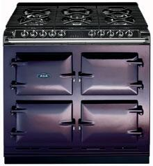 AGA A64LPAUB  Dual Fuel Freestanding Range with Sealed Burner Cooktop, 4.5 cu. ft. Primary Oven Capacity, in Aubergine