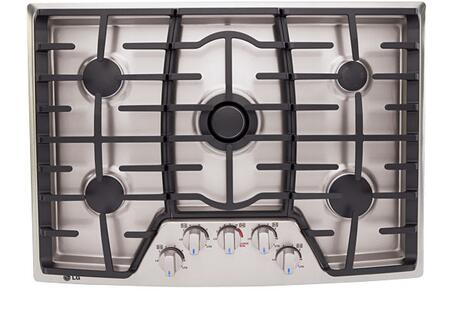 LG LCG3091ST  Gas Sealed Burner Style Cooktop