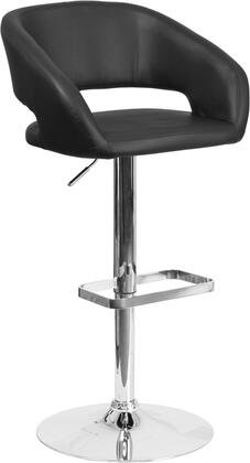 Flash Furniture CH122070BKGG Residential Vinyl Upholstered Bar Stool