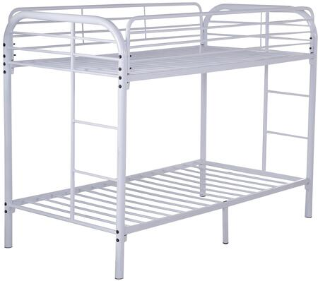 Glory Furniture G0016WHITE  Twin Size Bunk Bed