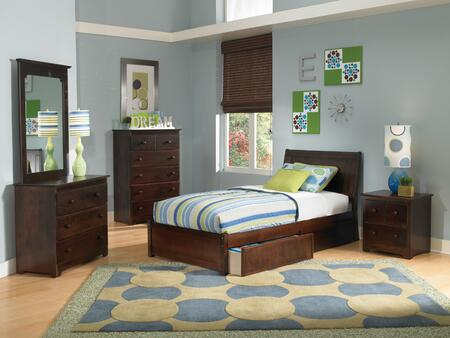 Atlantic Furniture PORTLANDFPFTWINAW Portland Series  Twin Size Bed