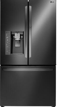 "LG LFXS30766 36"" Freestanding French Door Refrigerator with 30 Cu. Ft. Capacity, Smart Cooling Plus, Slim Space Plus Ice System, Door-In-Door Easy Access, and Linear Compressor, in"
