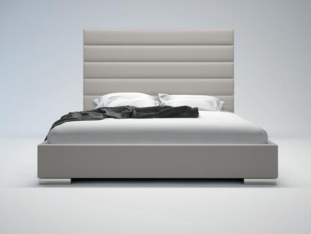 Modloft MD319FGRY Prince Series  Full Size Platform Bed
