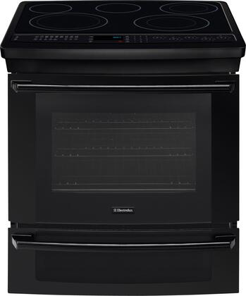 "Electrolux EI30ES55LB 30"" IQ-Touch Series Slide-in Electric Range with Smoothtop Cooktop Warming 4.2 cu. ft. Primary Oven Capacity"