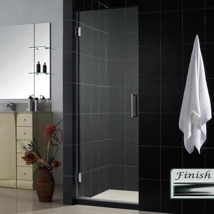 DreamLine SHDR-20267210F Unidoor Frameless Hinged Shower Door With Self-Closing Solid Brass Wall Mounted Hinges, Reversible For Right or Left Door Opening & In