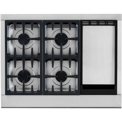 DCS CPU364GDL Professional Series Gas Sealed Burner Style Cooktop  Appliances Connection