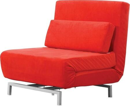 Fine Mod Imports FMI9997RED  Convertible Fabric Sofa