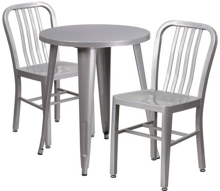 Flash Furniture CH51080TH218VRTSILGG Industrial Round Shape Patio Sets