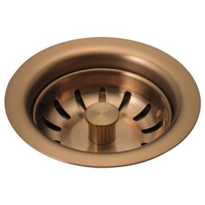 72010-BZ Delta: Kitchen Sink Flange and Strainer in Brushed Bronze Brilliance