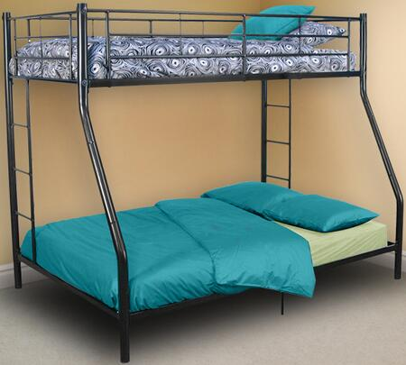Walker Edison BTOD Sunset Twin Over Double Bunk Bed