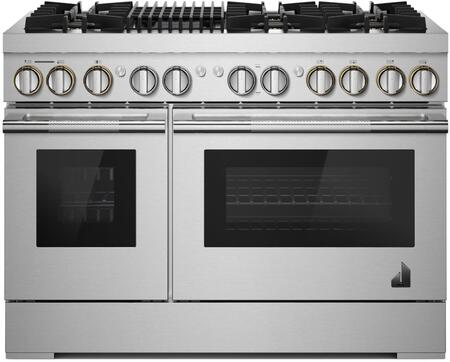 Jenn-Air Rise JDRP648HL 48-INCH DUAL-FUEL PROFESSIONAL RANGE WITH GAS GRILL