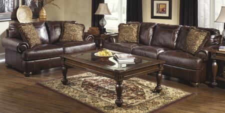 Milo Italia MI2450SFSET4BRN Casual Leather Living Room Set