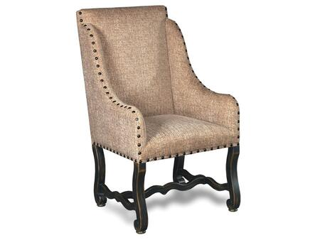 Ebony Churchill Sand Arm Dining Chair
