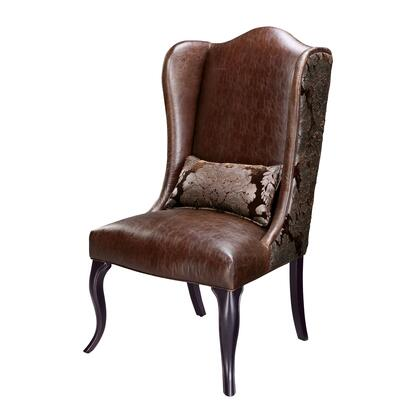 Sterling 6070809 Pullman Series Wingback Faux Leather Wood Frame Accent Chair