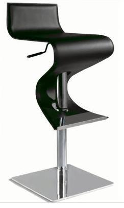 Chintaly 0833-AS- Adjustable Contemporary Swivel Stool in