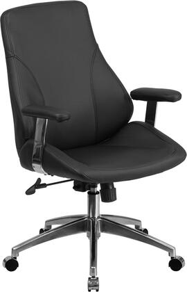 "Flash Furniture 27"" Executive Chair with Tilt Tension Adjustment Knob, Swivel Seat, Pneumatic Seat Height Adjustment, Aluminum Base and LeatherSoft Upholstery"
