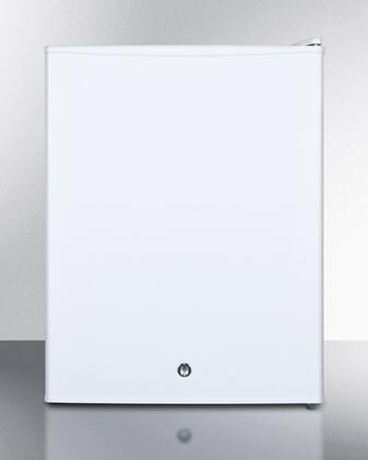 """Summit FS30X 19"""" Compact Medical Use Freezer with 1.8 cu. ft. Capacity, Factory Installed Lock, -20 Degrees C Capable, Removable Shelves, and Adjustable Thermostat in White: X Hinge"""