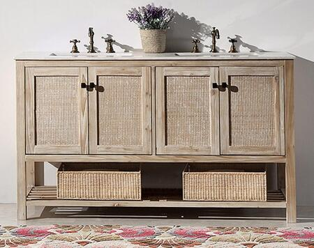 Legion Furniture WH51 Solid Wood Sink Vanity With Marble Top-No Faucet in White Wash