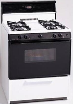 "Premier SMK340B 30"" Gas Freestanding Range with Sealed Burner Cooktop, 3.9 cu. ft. Primary Oven Capacity, Broiler in Black"