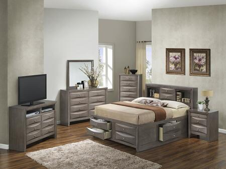Glory Furniture G1505GQSB3CHDMNTV2 G1505 Queen Bedroom Sets