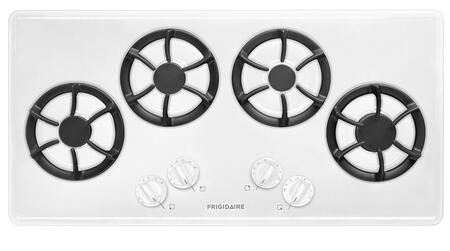 "Frigidaire FFGC3613LW 36"" Gas Sealed Burner Style Cooktop, in White"