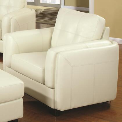 Coaster 504383 Sawyer Series Bonded Leather with Wood Frame in Cream with Ottoman Included