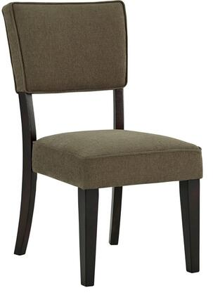 Milo Italia DR34312 Zandra Series Casual Fabric Wood Frame Dining Room Chair