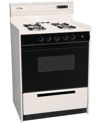 """Summit SNM6307CDFK 24"""" Gas Freestanding Range with Sealed Burner Cooktop, 2.9 cu.ft. Primary Oven Capacity, Broiler in Bisque"""