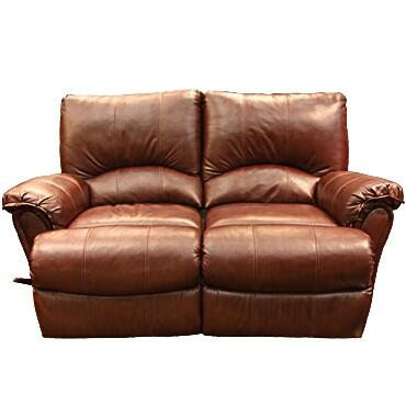Lane Furniture 20424174597528 Alpine Series Leather Reclining with Wood Frame Loveseat