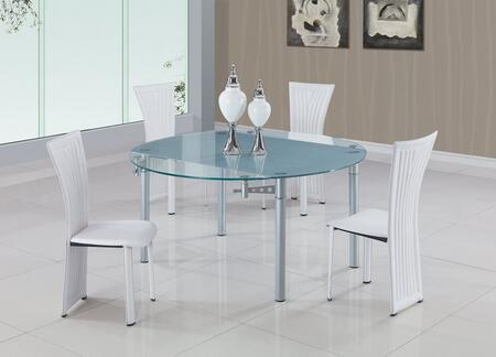 Global Furniture USA D135DTD1513DCWH5PCSET Dining Room Sets