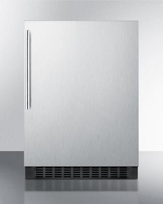 """Summit FF64BXCSSHV 24"""" Compact Refrigerator with 4.6 cu. ft. Capacity in Stainless Steel"""