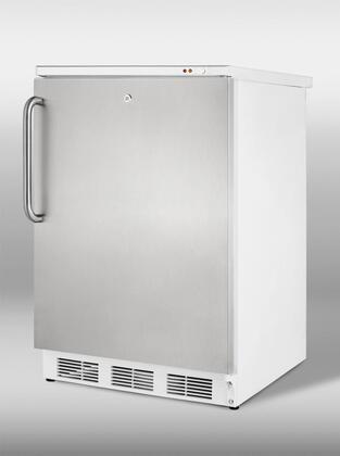 "Summit VT65ML7SSTB24"" Freestanding Upright Counter Depth Freezer"