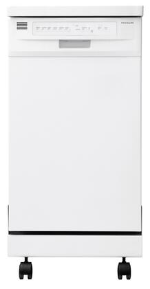 "Frigidaire FFPD1821MW 18"" 1800 Series Portable Full Console Dishwasher with 8 Place Settings Place Settingin White"