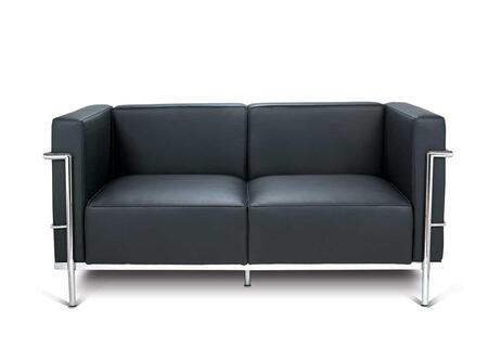 Fine Mod Imports FMI1158 Cube Classic Leather Loveseat:
