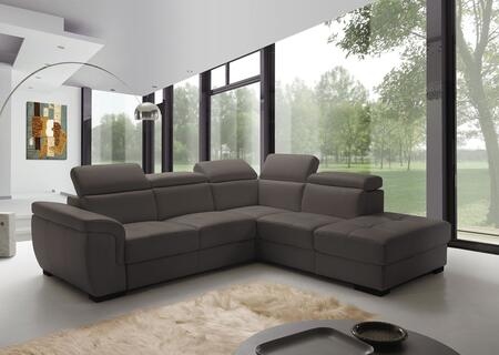 ESF Freedom Collection I17-X Sectional with Sofa Bed in Brown