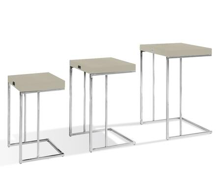 VIG Furniture VGUNAK855CMP A & X Amelia Series Modern Metal Rectangular None Drawers End Table