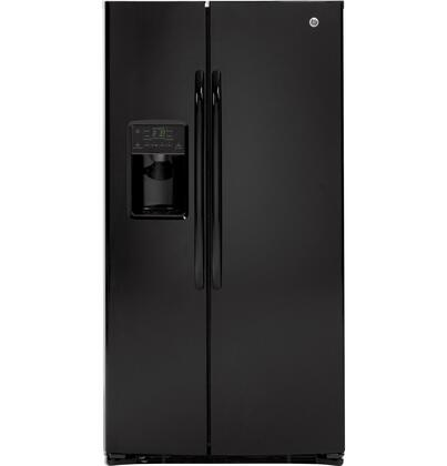 GE GSHF6LGBBB Freestanding Side by Side Refrigerator |Appliances Connection